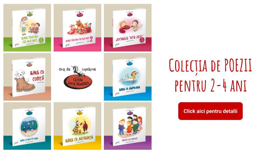set carti poezie copii lucia muntean 2-4 ani